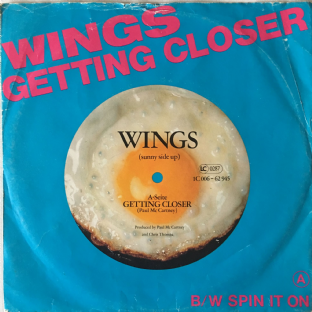 "Wings  ‎- Getting Closer (7"") (VG-/G-)"